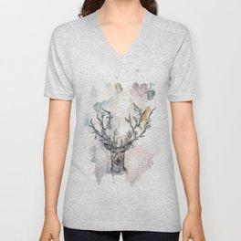 Cobweb Deer Unisex V-Neck