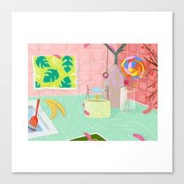 Caterpillar Kitchen Canvas Print