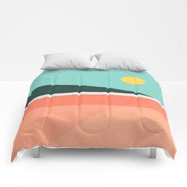 Geometric Landscape 15 Comforters