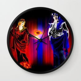 Mairon and Melkor (Lynch Aesthetics) Wall Clock