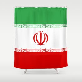 Iran Flag Three-Coloured Flag Shower Curtain