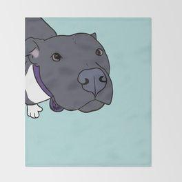 Faith The Resilient Pit Bull Throw Blanket