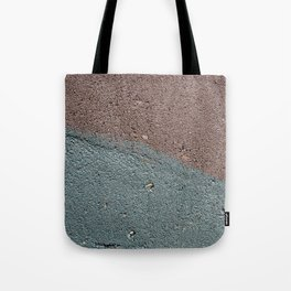 Silver Waves on Concrete Tote Bag