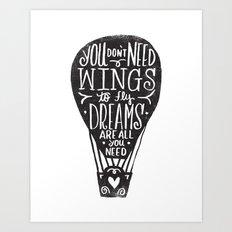 wings & dreams Art Print