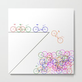 Bike 1, Vector, Design Metal Print