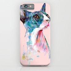 cat on pink Slim Case iPhone 6s