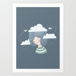Women's thoughts Art Print