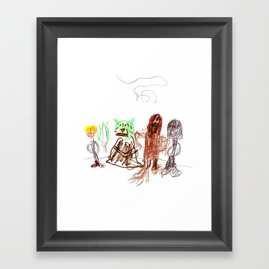 Space Opera in Crayon Framed Art Print