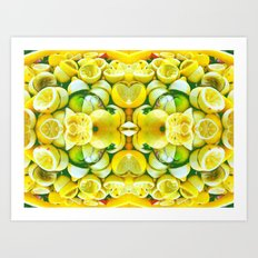 Lemon Swirl 4 Art Print