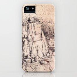 Craggy hill by Leonardo Da Vinci iPhone Case