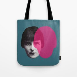 Katherine Mansfield - portrait blue/green pink Tote Bag