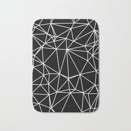 Random delaunay triangulation - black Bath Mat