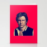 han solo Stationery Cards featuring Han Solo  by Jemma Klein
