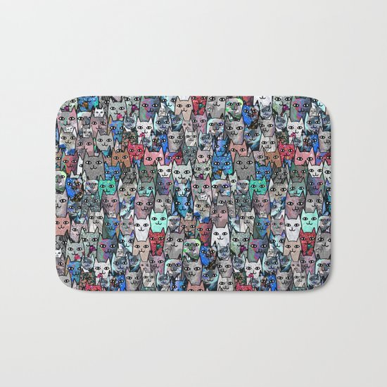 Gemstone Cats RGB Bath Mat