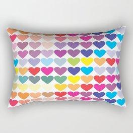 Colorful Hearts Rectangular Pillow