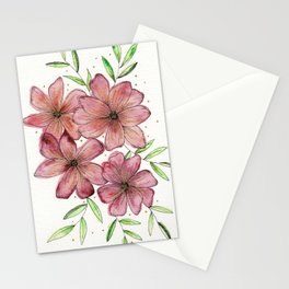 Pink and Gold Bouquet Stationery Cards