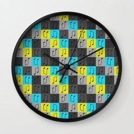 Musical repeating pattern No.4, Collection No.1 Wall Clock