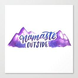 Namaste Outside Canvas Print