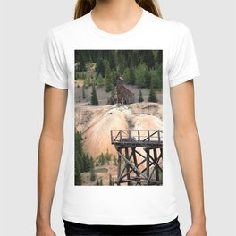 1880's Gold Rush - Mine Headshaft on Red Mountain from the Idarado Ore Cart Track T-shirt