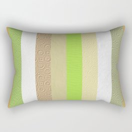Vintage embossed paper stripes collage Rectangular Pillow