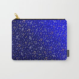 silver,gold,metall music notes in blue Carry-All Pouch