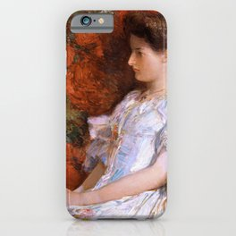 12,000pixel-500dpi - Frederick Childe Hassam - The Victorian Chair - Digital Remastered Edition iPhone Case