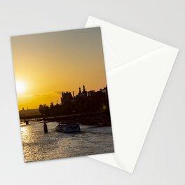 Pont des arts at sunset - Paris, France Stationery Cards