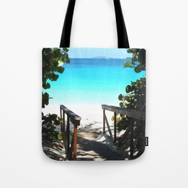 Trunk Bay walkway to beach, St. John Tote Bag