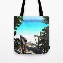 Trunk Bay walkway to beach, St. John Tote Bag