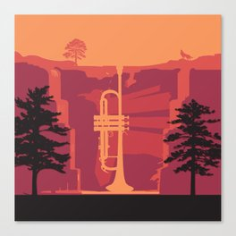 Music Mountains No. 3 Canvas Print