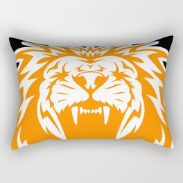 Wild jungle Animal Lion Roar Rectangular Pillow