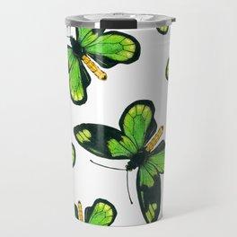 Queen Victoria' s birdwing butterfly pattern Travel Mug