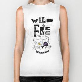 Wild and Free cat. Biker Tank