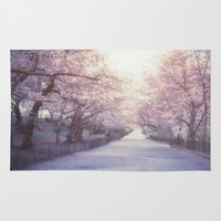 central park Area & Throw Rugs featuring Central Park by Vivienne Gucwa