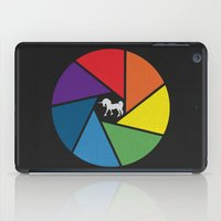 aperture iPad Cases featuring Capture The Unicorn by Erik Sandi Satresa