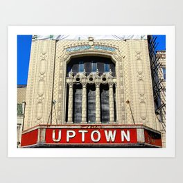 Uptown Theater, Chicago Art Print