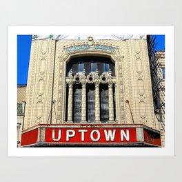 Uptown Theater, Chicago Art Print