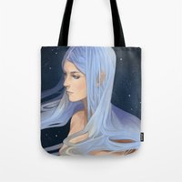 aquarius Tote Bags featuring Aquarius by Juuhanna