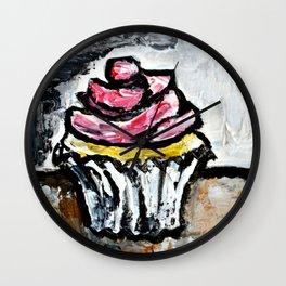Sweet Treats Still Life: Cupcake Wall Clock