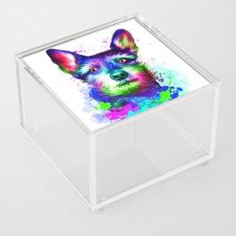 Terrier digital art Acrylic Box