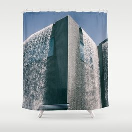 THE BUILDING Shower Curtain