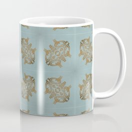 Soft Teal Blue & Gold No. 6 Coffee Mug