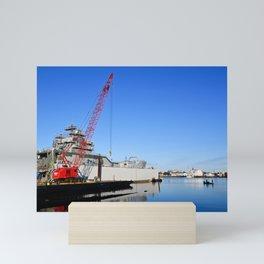 Warship Being Scrapped Norfolk Virginia Mini Art Print