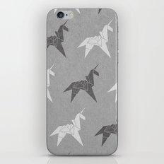 Origami Unicorn Grey iPhone & iPod Skin