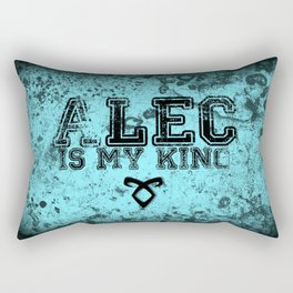 """ALEC IS MY KING"" Shadowhunters Design Rectangular Pillow"
