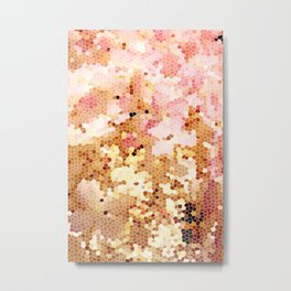 Blush Pink Abstract Spring Floral | Easter | Millennial Pink Metal Print