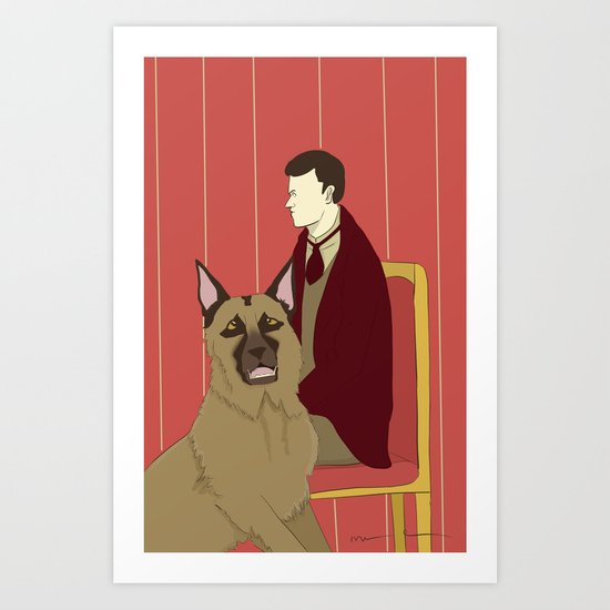 Man and Dog Art Print
