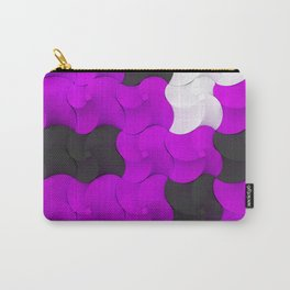Black, white and purple twisted pyramids Carry-All Pouch