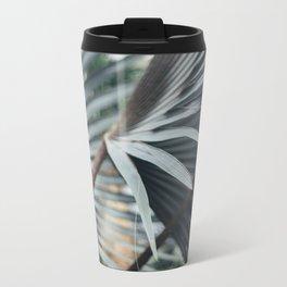 Palm Abstract Metal Travel Mug