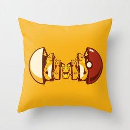 Poketryoshka - Electric Type Throw Pillow